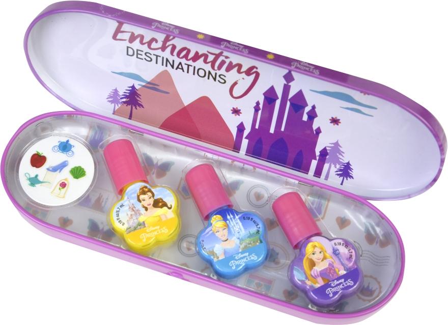 Набор лаков для ногтей в металлическом футляре - Markwins Disney Princess