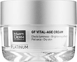 Духи, Парфюмерия, косметика Крем для сухой кожи лица - MartiDerm Platinum Gf Vital Age Cream