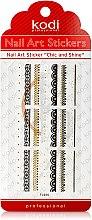 Духи, Парфюмерия, косметика Наклейки для дизайна ногтей - Kodi Professional Nail Art Stickers FL025