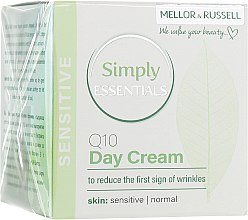 Духи, Парфюмерия, косметика Крем для лица дневной против первых морщин для нормальной и чувствительной кожи - Mellor & Russell Simply Essentials Sensitive Q10 Day Cream