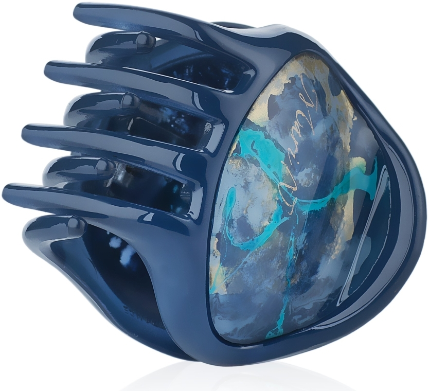 """Заколка """"Краб"""", E752BLO-K1500CR, синяя - Mari N. — фото N1"""