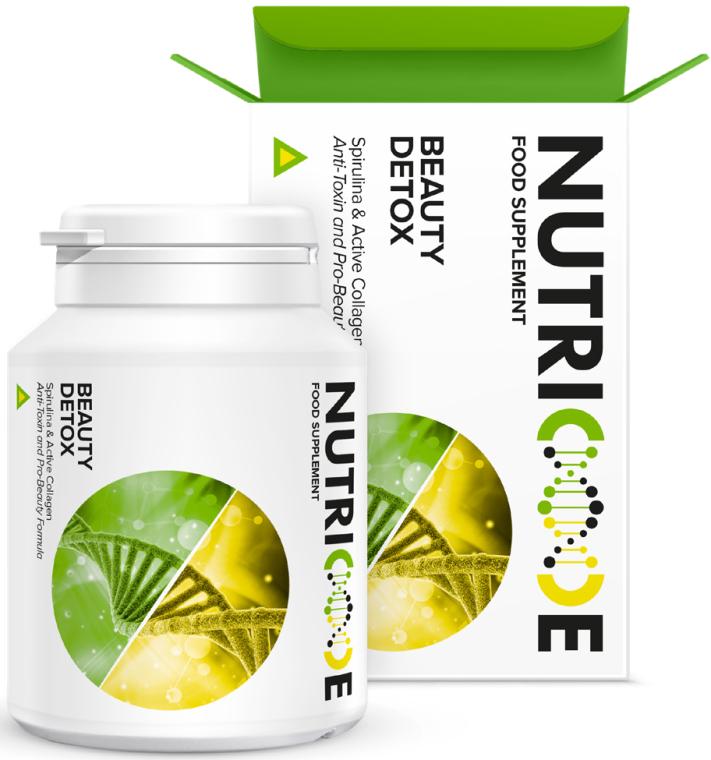 "Диетическая добавка ""Спирулина и коллаген"" - Nutricode Beauty Detox Food Supplement"