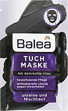 Духи, Парфюмерия, косметика Тканевая маска для лица с активированным углем - Balea