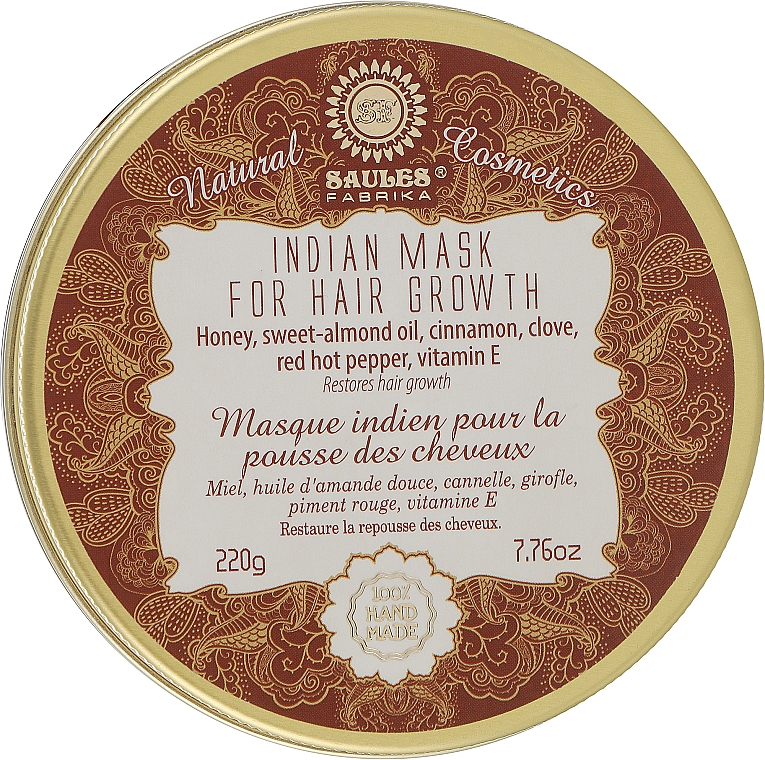 """Маска для роста волос """"Индийская"""" - Saules Fabrika Indian Mask"""