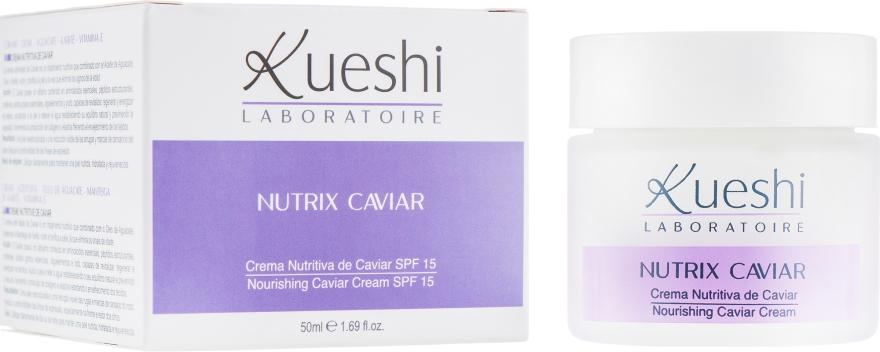 Крем питательный c экстрактом черной икры - Kueshi Nutrix Caviar Crema Nutritiva Caviar Spf 15