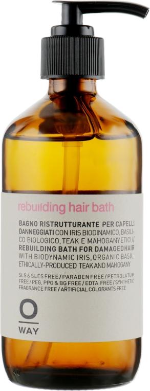 Шампунь для реконструкции волос - Oway Rebuilding Hair Bath