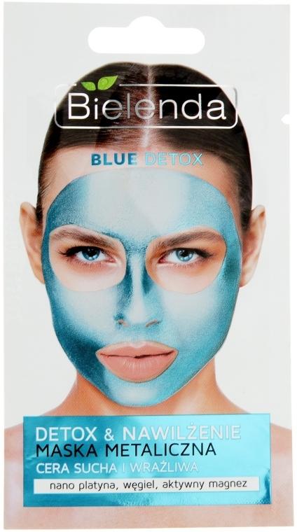 Маска с содержанием металлов для сухой и чувствительной кожи - Bielenda Blue Detox