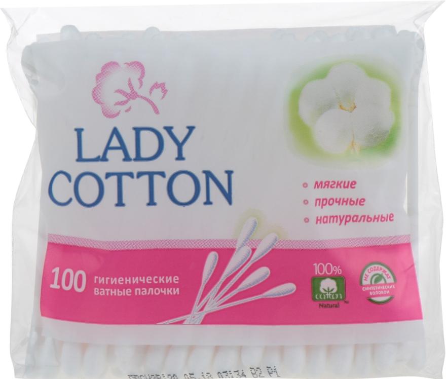 Ватные палочки в полиэтиленовом пакете, 100шт - Lady Cotton