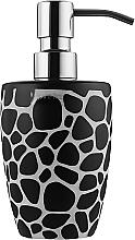 """Духи, Парфюмерия, косметика Дозатор для жидкого мыла """"Darwin Pebble"""", керамика 7.5x16 см, черный - Spirella"""