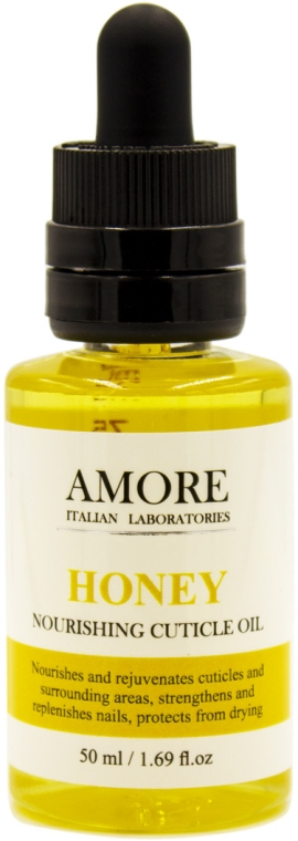 Концентрированное смягчающее масло для ногтей и кутикул с медом - Amore Honey Nourishing Cuticle Oil