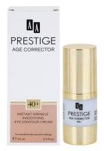 Духи, Парфюмерия, косметика Разглаживающий крем для чувствительной кожи глаз 40+ - AA Prestige Age Corrector Eye Crem 40+