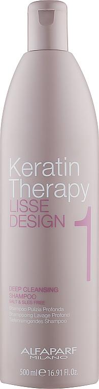 Шампунь для глубокой очистки - Alfaparf Lisse Design Keratin Therapy 1 Deep Cleansing Shampoo
