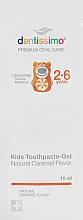 Духи, Парфюмерия, косметика Зубная паста-гель для детей со вкусом карамели - Dentissimo Kids Thoothpaste-Gel Natural Caramel Flavor (пробник)