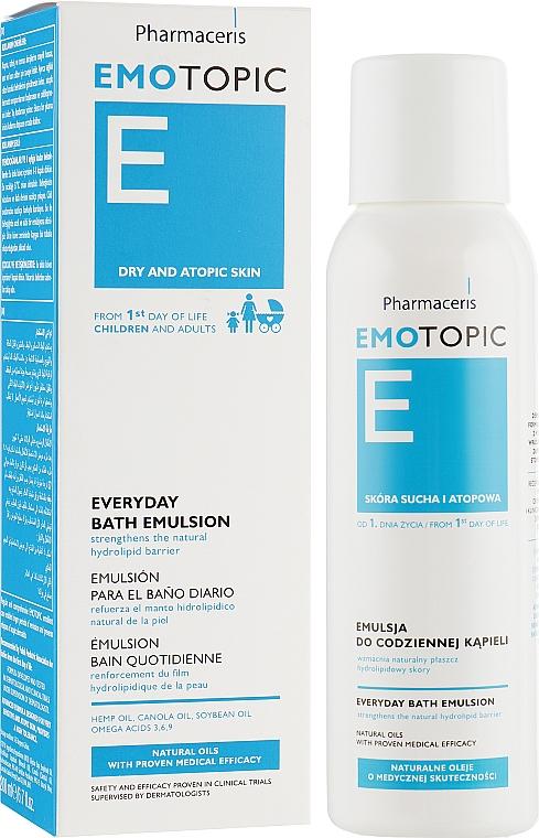 Эмульсия для сухой и склонной к атопии кожи - Pharmaceris E Emotopic Everyday Bath Emulsion