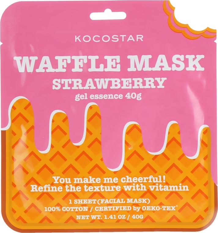 """Тонизирующая вафельная маска """"Клубничный фреш"""" - Kocostar Strawberry Waffle Mask"""