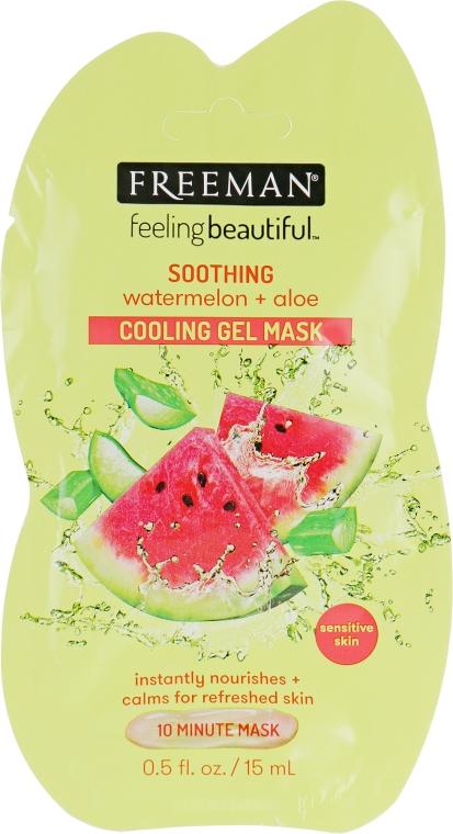 "Маска водная гелевая для лица ""Арбуз и алоэ"" - Freeman Feeling Beautiful Soothing Cooling Gel Mask"