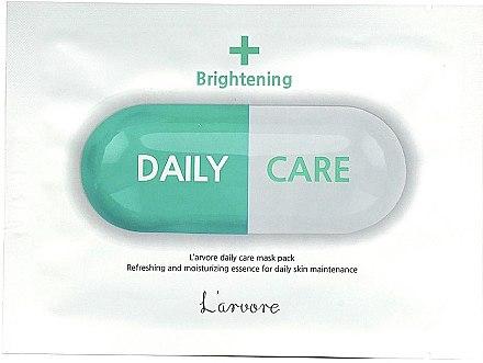 Осветляющая тканевая маска для лица - L`arvore Daily Care Mask Brightening