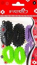 Духи, Парфюмерия, косметика Набор резинок для волос, 7579, 6 шт., бежевый + розовый + синий - Reed