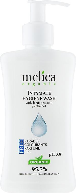 Средство для интимной гигиены с молочной кислотой и пантенолом - Melica Organic Intimate Hygiene Wash