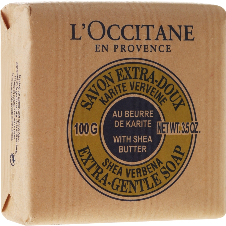 "Мыло ""Карите-молоко"" - L'occitane Shea Butter-Verbena Extra-Gentle Soap"