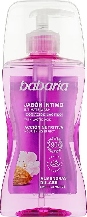 Гель для интимной гигиены со сладким миндалем - Babaria Jabon Intimo Almond For Women
