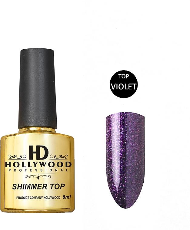 Топ для гель-лака - HD Hollywood Shimmer Violet