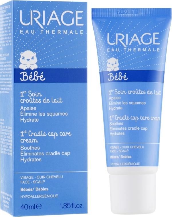 Регулирующий успокаивающий крем от молочных корочек у младенцев и детей - Uriage Soin Croutes De Lait
