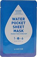 Духи, Парфюмерия, косметика Увлажняющая тканевая маска для лица - Laneige Water Pocket Sheet Mask Water Bank