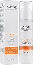 Духи, Парфюмерия, косметика Концентрированная крем-сыворотка с витамином С 20% для сияния кожи - Amore Extra Radiance Creamy Serum
