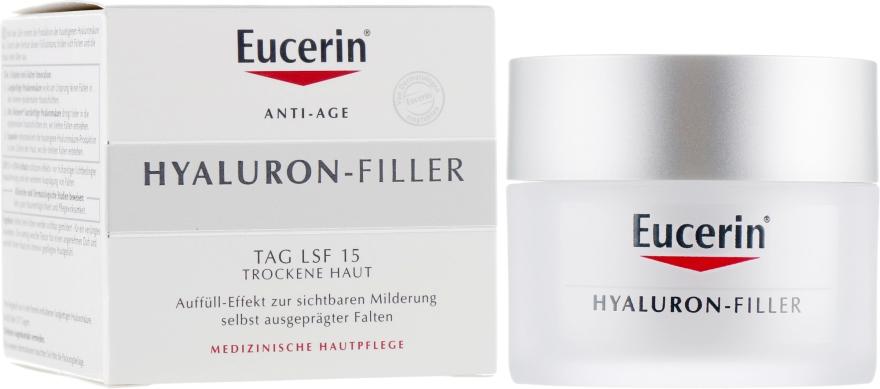 Дневной крем против морщин для сухой и чувствительной кожи - Eucerin Hyaluron-Filler Day Cream For Dry Skin