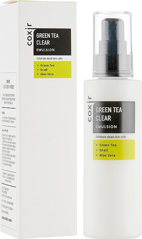 Эмульсия для лица - Coxir Green Tea BHA Clear Emulsion