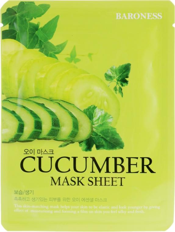 Тканевая маска с огурцом - Beauadd Baroness Mask Sheet Cucumber