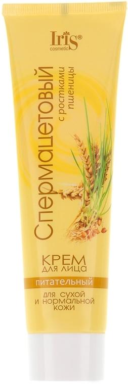 """Крем для лица """"Спермацетовый с ростками пшеницы"""", питательный - Iris Cosmetic"""