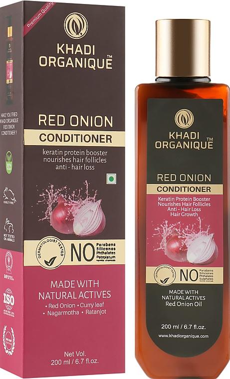 """Натуральный аюрведический безсульфатный бальзам для укрепления и роста волос """"Красный лук"""" - Khadi Organique Red Onion Hair Conditioner"""