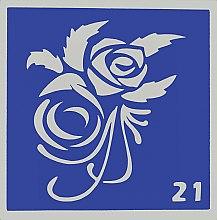 Парфумерія, косметика Трафарет для боді-арту, 6х6 см, 21 - Mayur