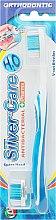 Духи, Парфюмерия, косметика Ортодонтическая зубная щетка со сменной головкой, синяя - Silver Care H20
