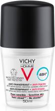 Шариковый дезодорант против белых и желтых пятен на одежде - Vichy Deo Anti-Transpirant 48H — фото N1