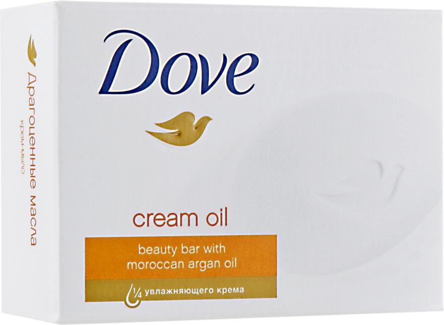 "Крем-мыло ""Драгоценные масла"" - Dove Cream Oil Beauty Bar With Moroccan Oil"