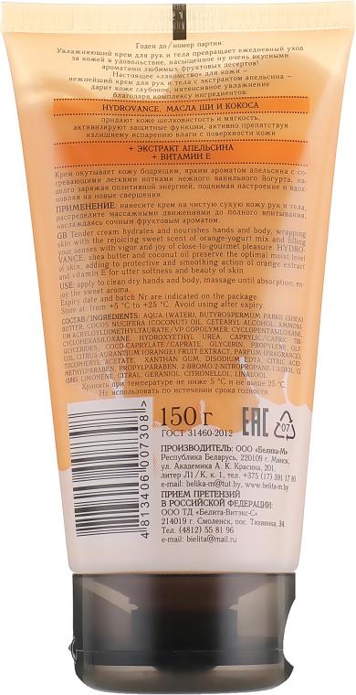 """Увлажняющий крем для рук и тела """"Апельсиновый йогурт"""" - Белита-М Fruit Dessert Hand & Body Cream — фото N2"""