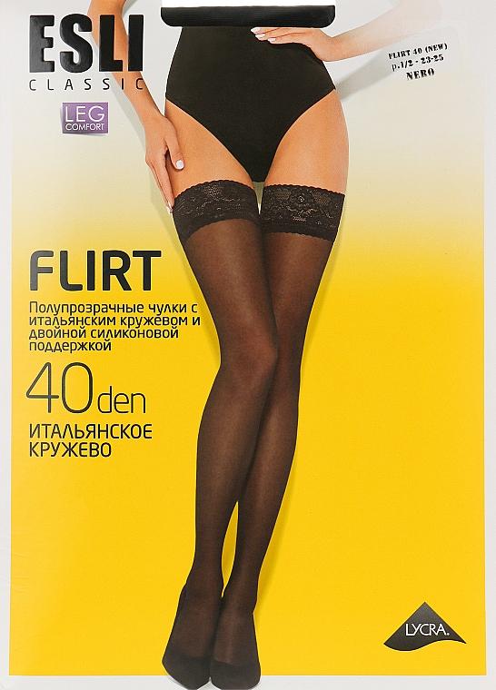 """Чулки для женщин """"Flirt"""" 40 den, nero - Esli"""