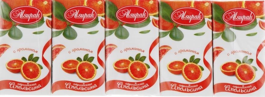 """Бумажные носовые платки, с ароматом """"Сицилийский апельсин"""" - Alsupak"""