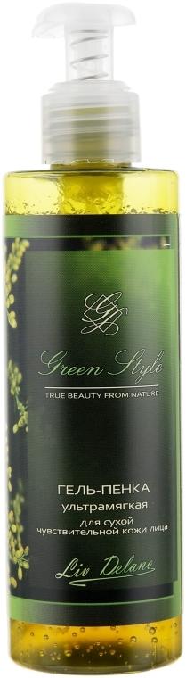 Гель-пенка ультрамягкая для сухой чувствительной кожи лица - Liv Delano Green Style Foam