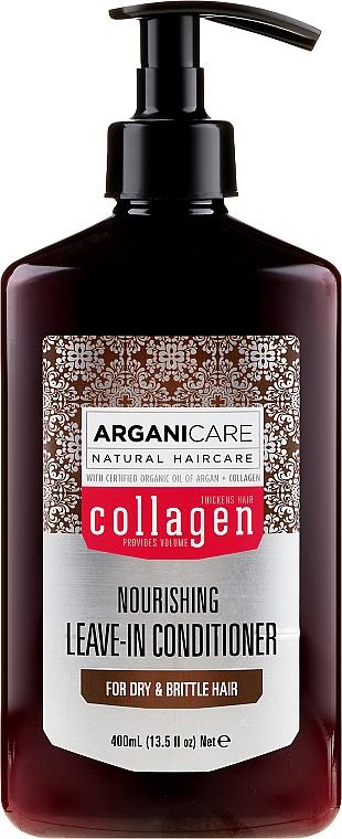 Несмываемый кондиционер для сухих и ломких волос - Arganicare Collagen Nourishing Leave-In Conditioner