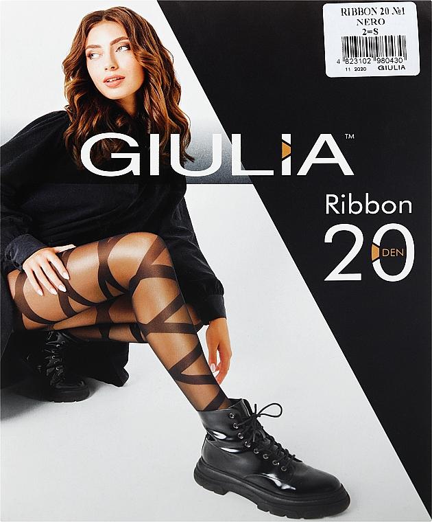 """Колготки для женщин """"Ribbon 1"""" 20 Den, nero - Giulia"""
