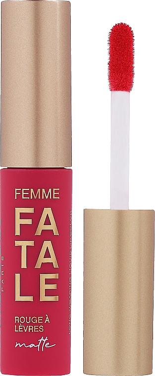 Жидкая матовая помада для губ - Vivienne Sabo Femme Fatale Rouge a Levres Matte