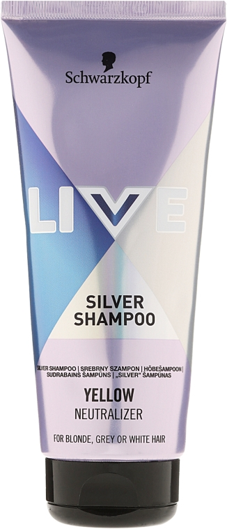 Шампунь-нейтрализатор желтизны - Live Silver Purple Shampoo Yellow Neutralizer