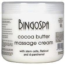 Духи, Парфюмерия, косметика Какао-масло для тела из стволовых клеток, ретинола и Д-пантенола - BingoSpa Creamy Cocoa Butter Massage