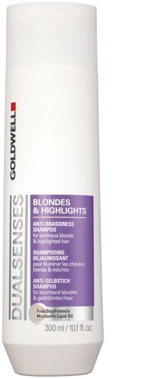 Шампунь для осветленных и мелированных волос - Goldwell Dualsenses Blondes & Highlights Anti-Brassiness Shampoo