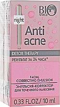 Парфумерія, косметика Емульсія-коректор для точкового нанесення  - Bio World Secret Life Detox Therapy Facial Correcting Emulsion