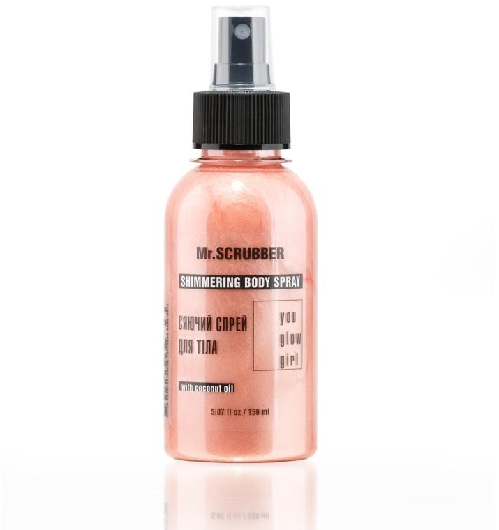 Сияющий спрей для тела - Mr.Scrubber You Glow Girl Shimmering Body Spray